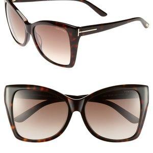 Tom Ford Carli Havana brown gradient lenses